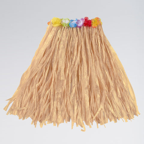 Natural Hula Skirt with Flowers-Dazzle Dancewear Ltd