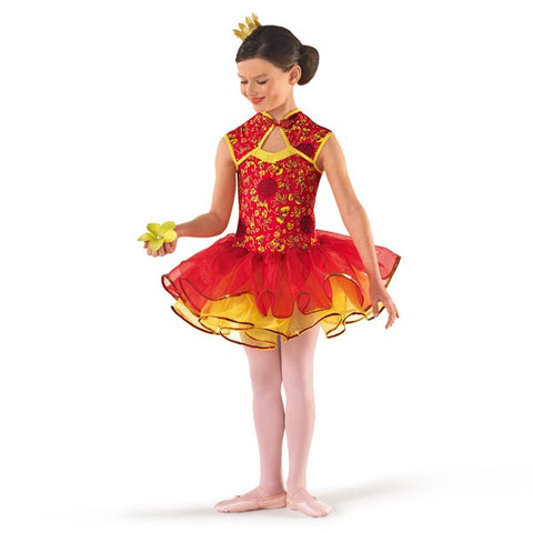 Far Eastern Red & Gold Tutu-Dazzle Dancewear Ltd