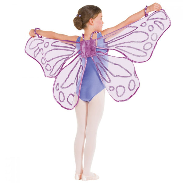 Floating Butterfly Wings With Glitter - Dazzle Dancewear Ltd
