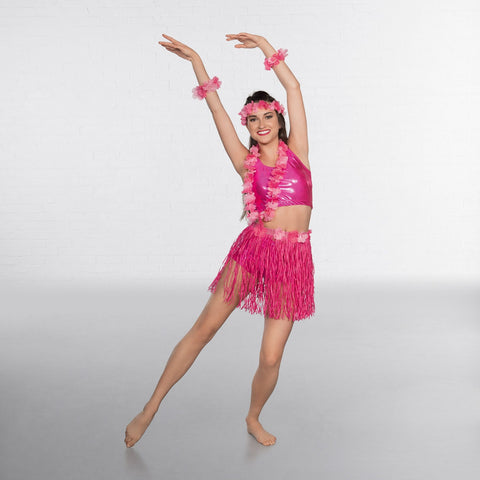 Pink Hawaiian Set-Dazzle Dancewear Ltd