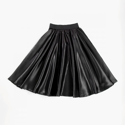 Black Satin Practice Skirt - Dazzle Dancewear Ltd
