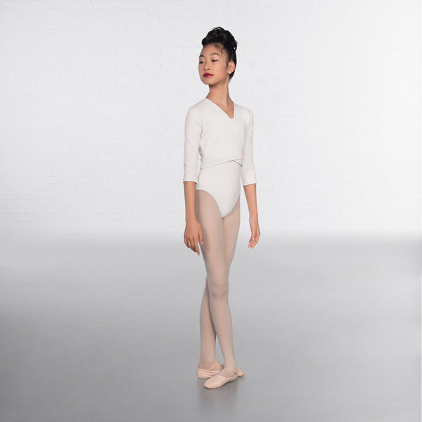 1st Position White X Over Cardigan 3/4 sleeves  - Dazzle Dancewear Ltd