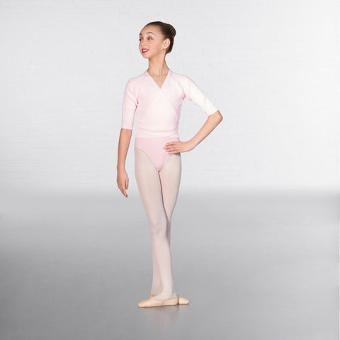 1st Position 3/4 Sleeved Ballet Dance X-Over