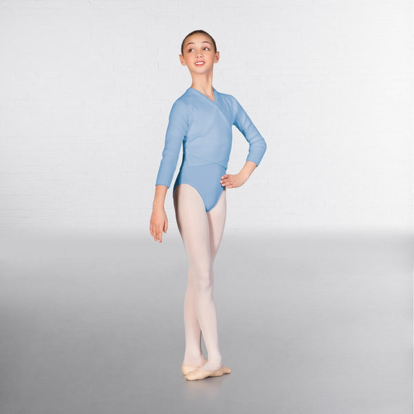 1st Position Long Sleeved Acrylic Ballet Dance X-Over - Dazzle Dancewear Ltd