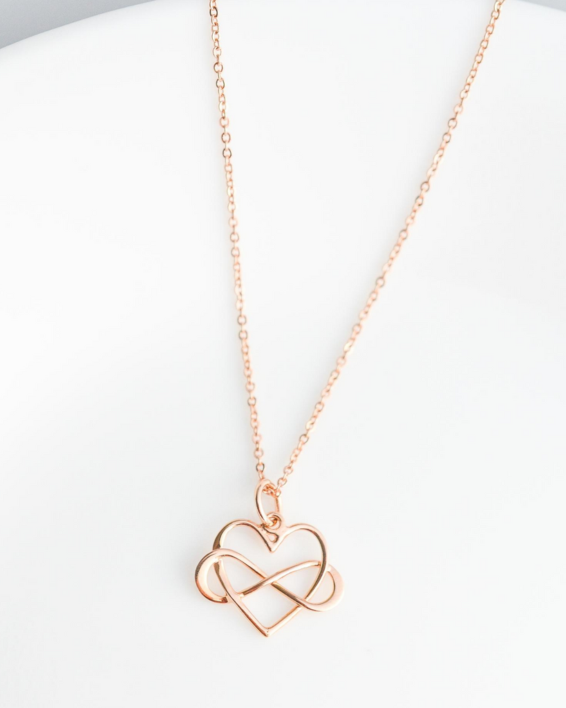 Teacher Infinity Heart Necklace