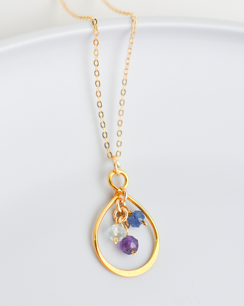 Mother's Small Infinity Teardrop Necklace