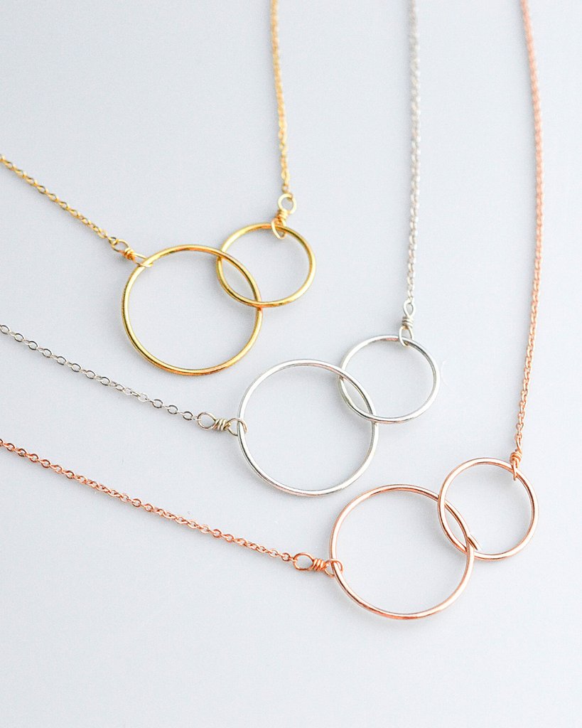 Connected Circles Necklace