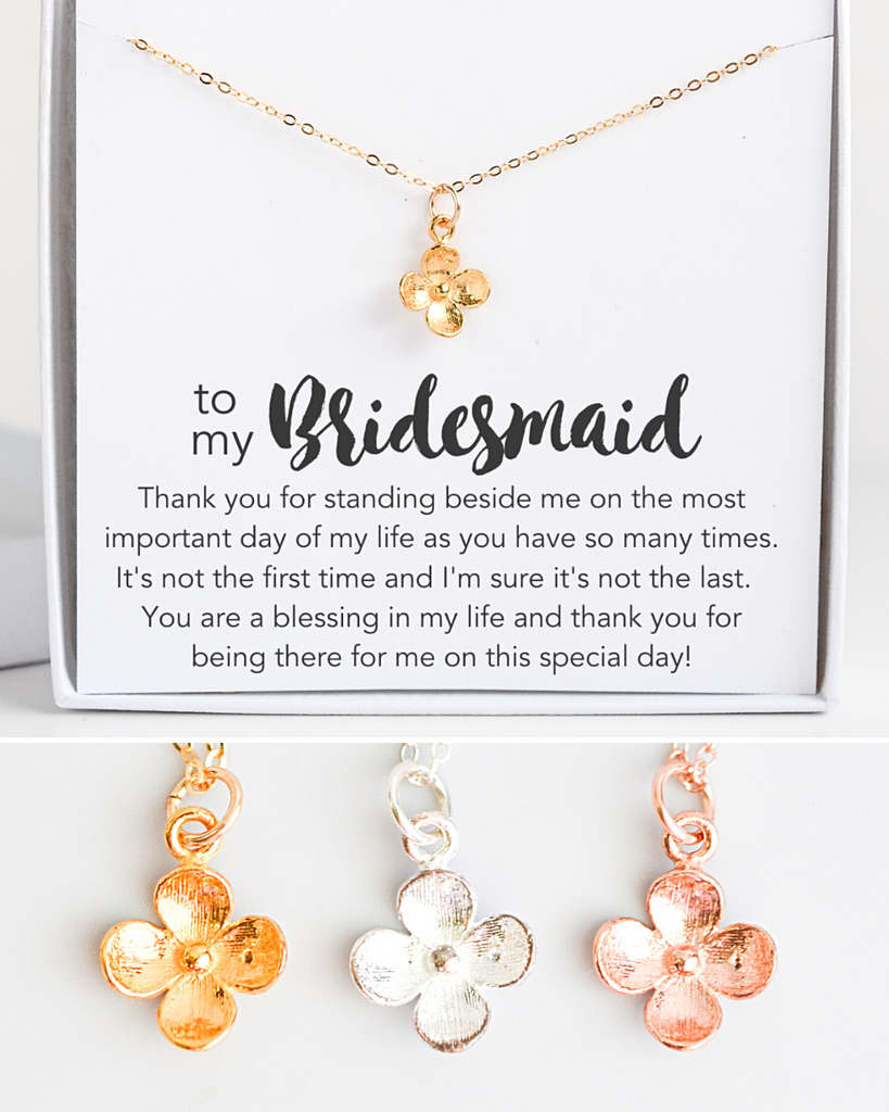 Bridesmaid Bloom Necklace