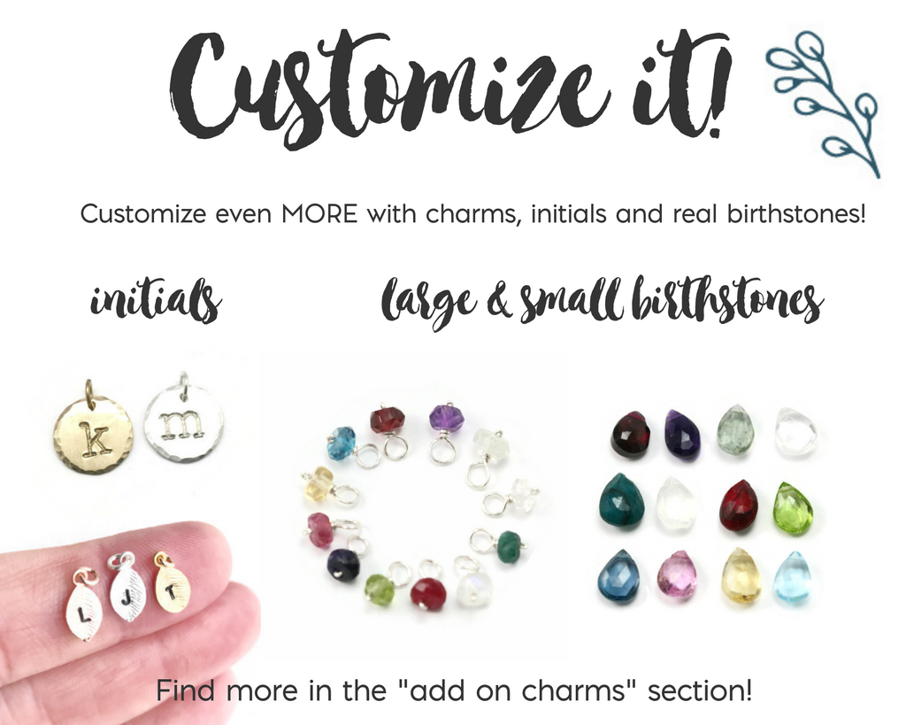 Four Birthstones Cluster Necklace
