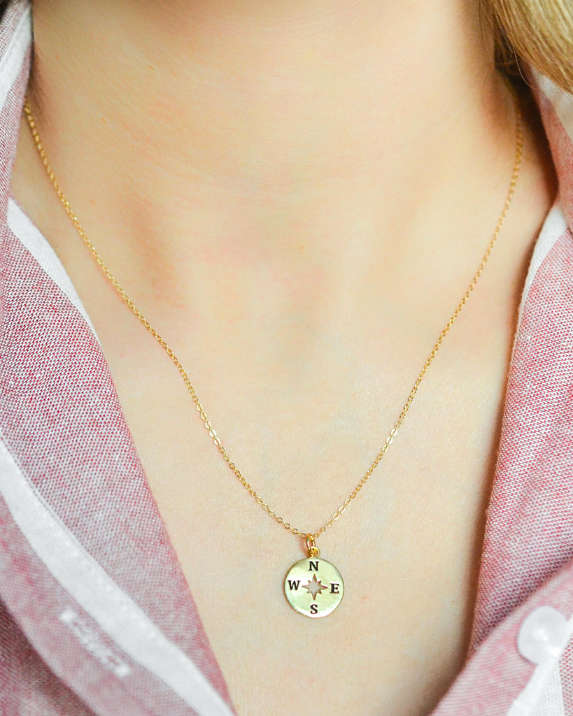 Solid Compass Necklace