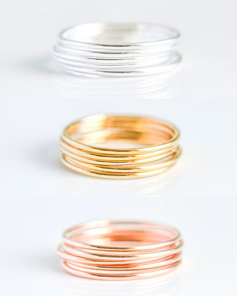 Thin Band Round Ring