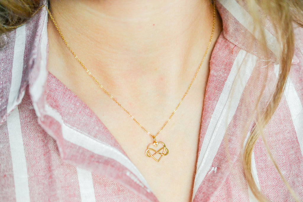 Sister Infinity Heart Necklace