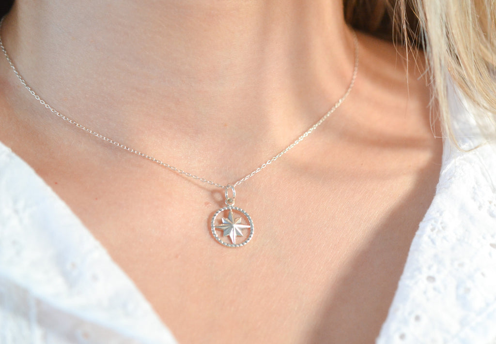 Graduate Compass Necklace