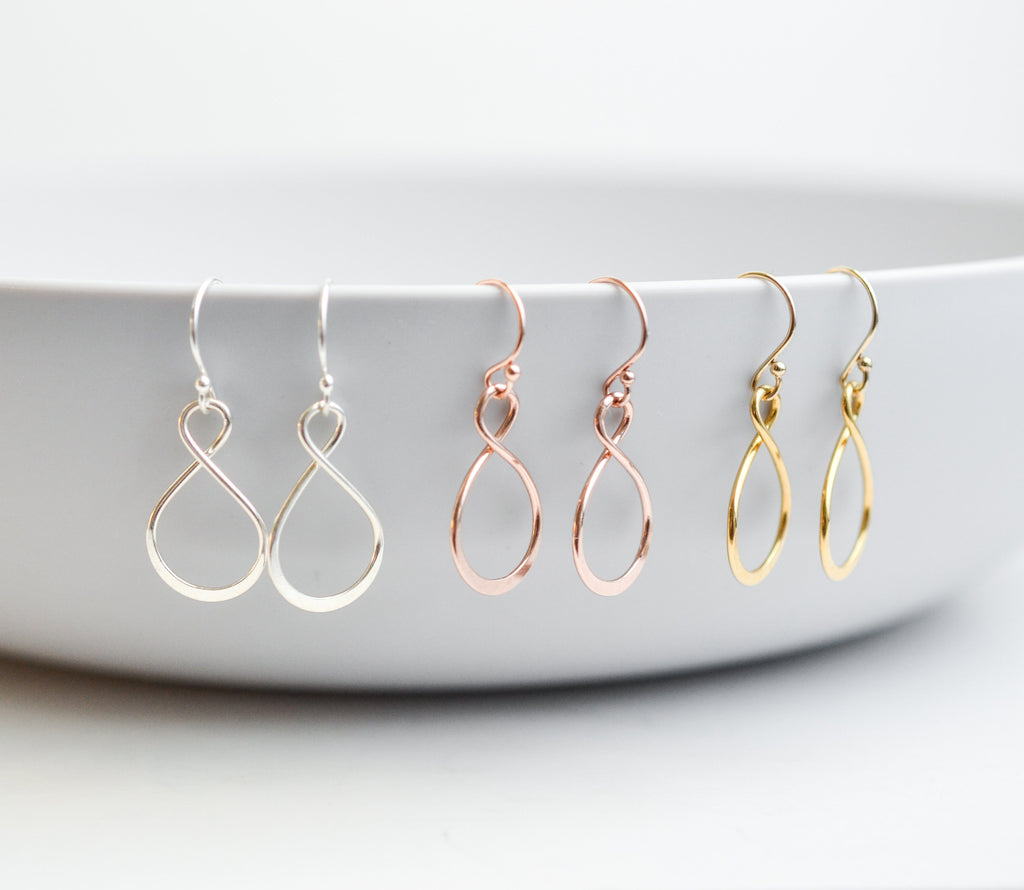 Bridesmaid Infinity Earrings