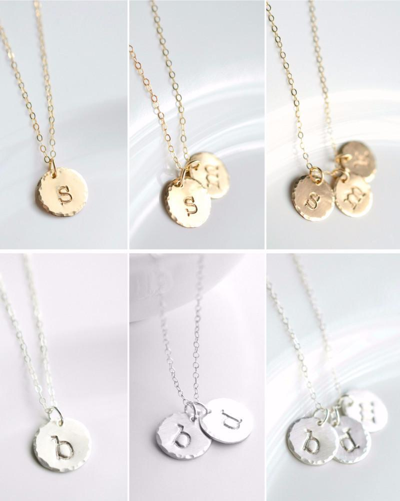 [CUSTOM] Gold and Silver Large Initial Necklace