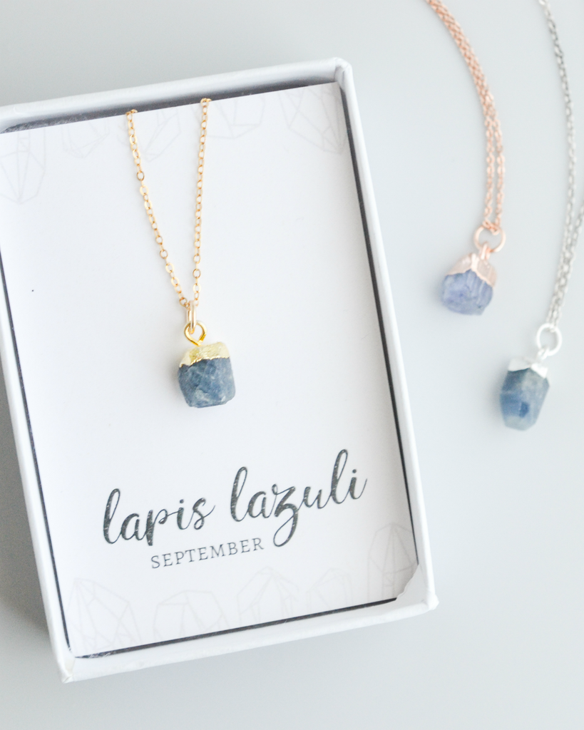 Raw Lapis Lazuli Gemstone Necklace