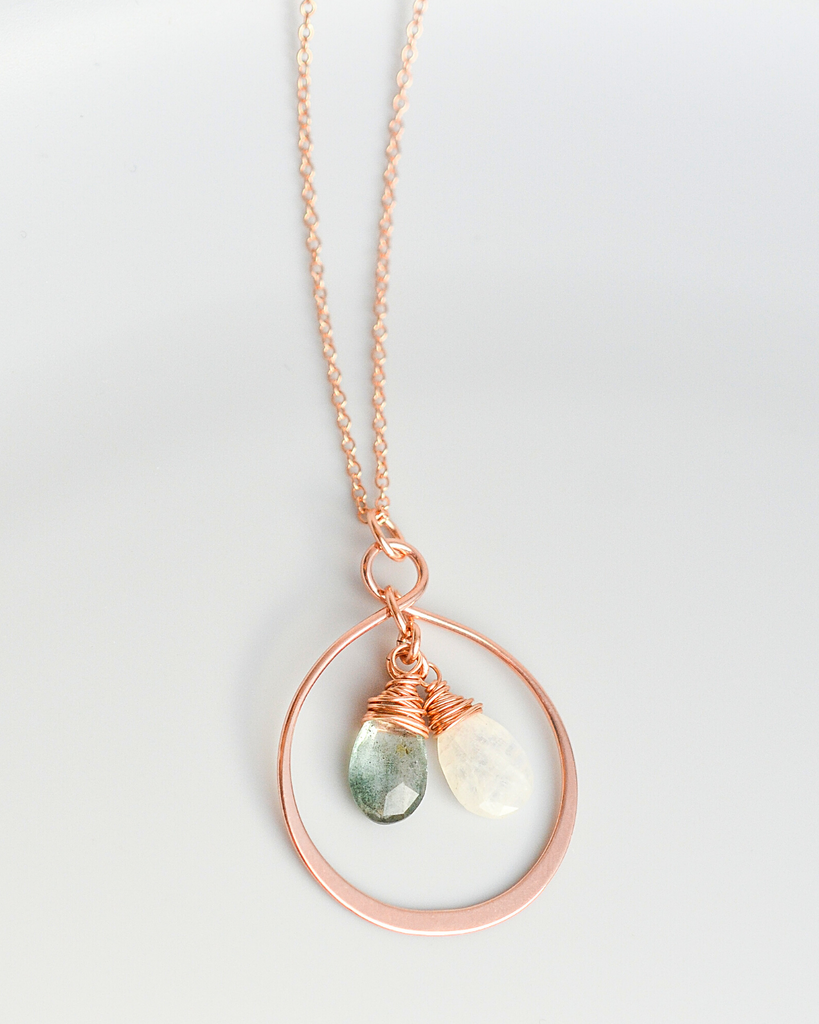 Mother's Large Infinity Teardrop Necklace