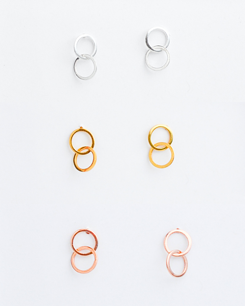 Connected Stud Earrings