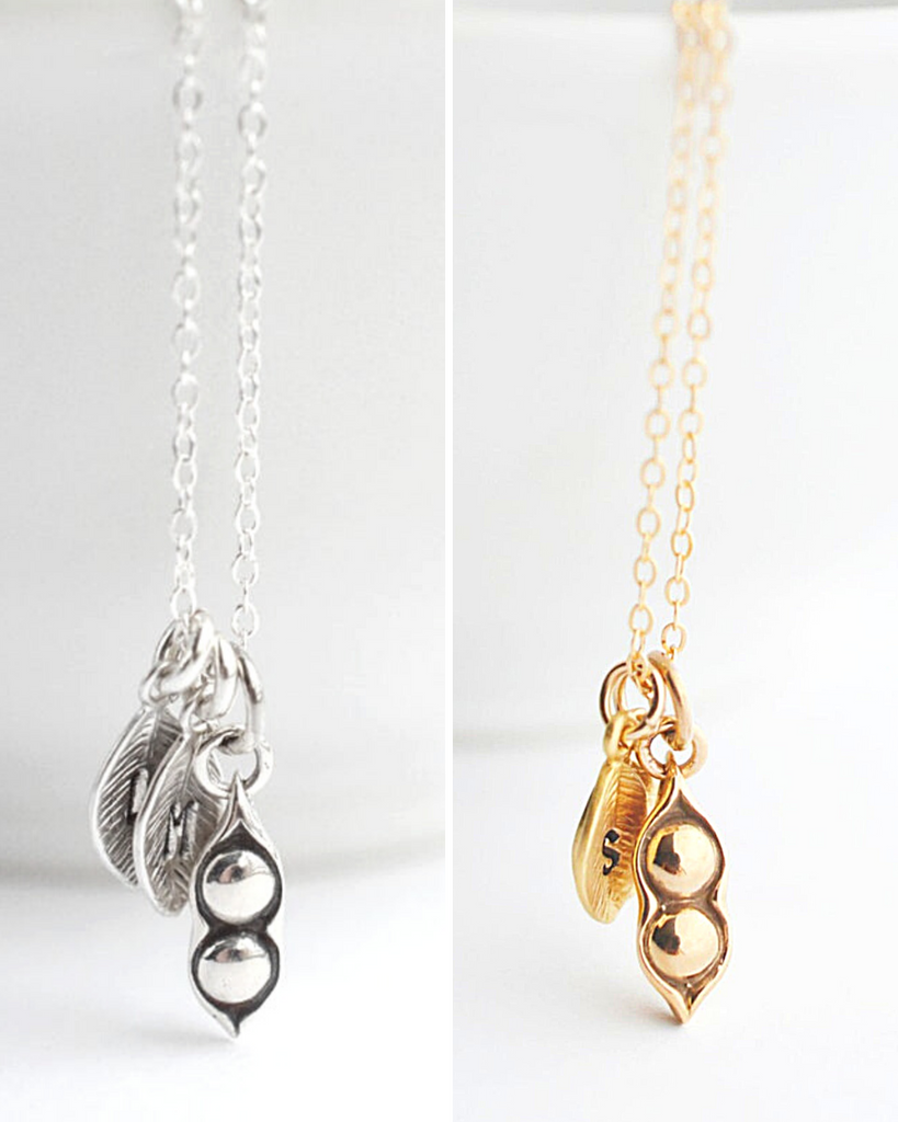 Two Peas in a Pod Necklace