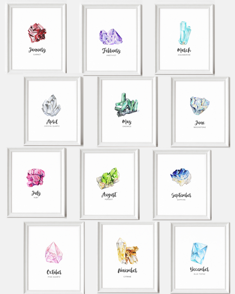 Birthstone Prints