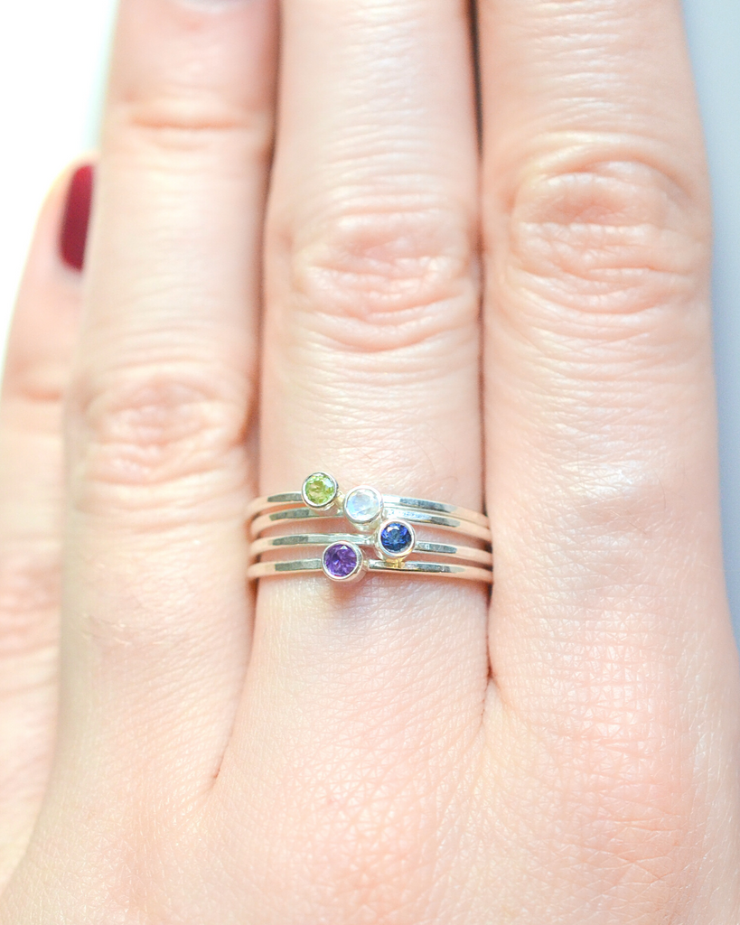 Fall Birthstone Rings