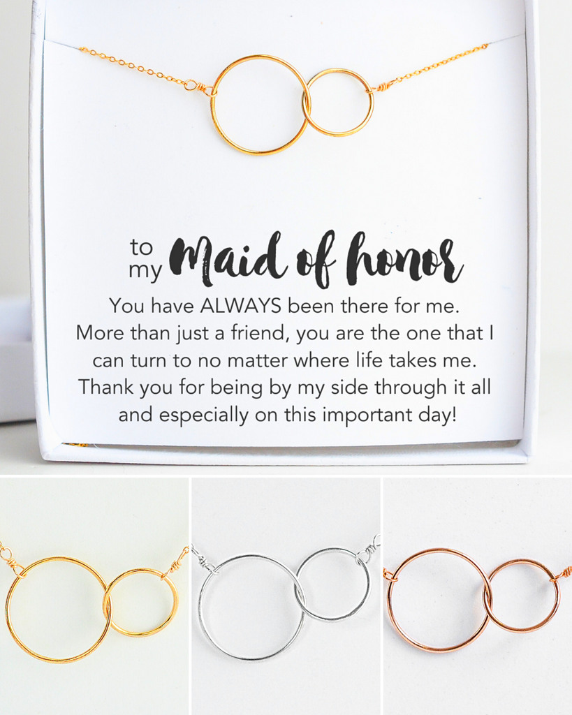 Maid of Honor Connected Necklace