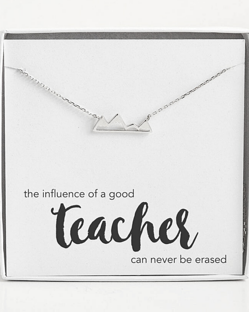 Teacher Mountain Range Necklace