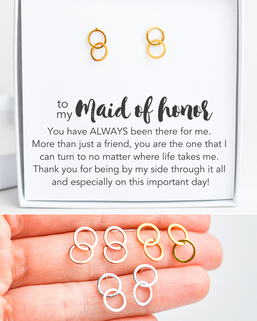 Maid of Honor Circle Studs