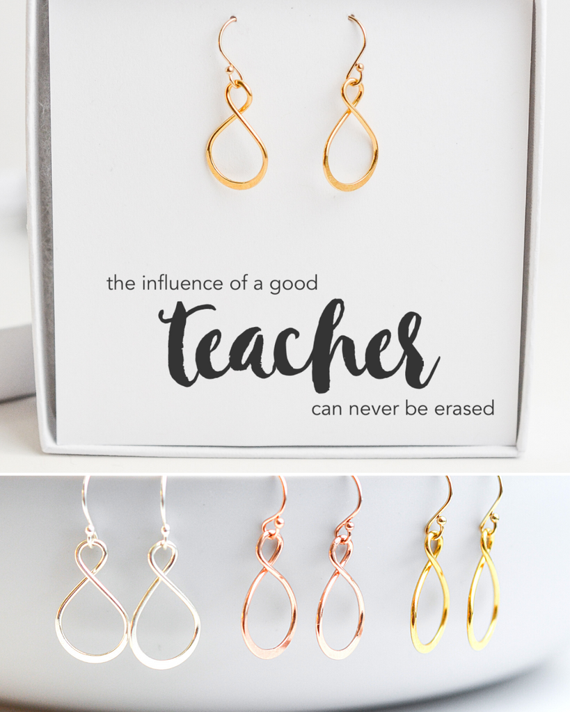 Teacher Infinity Earrings