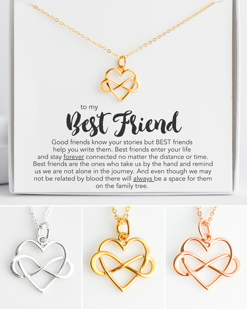 Best Friend Infinity Heart Necklace