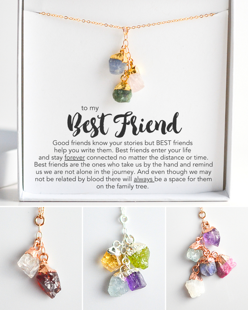 Best Friend Birthstone Necklace