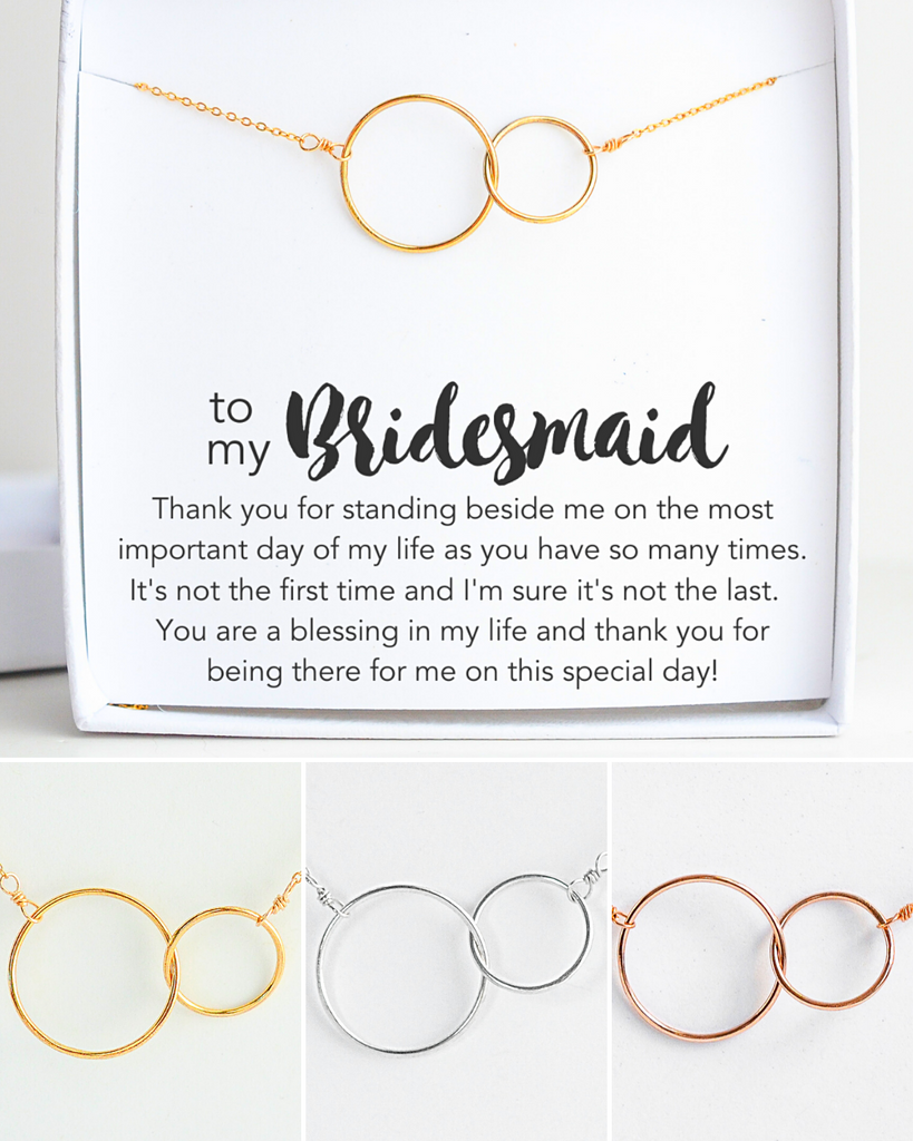 Bridesmaid Connected Necklace