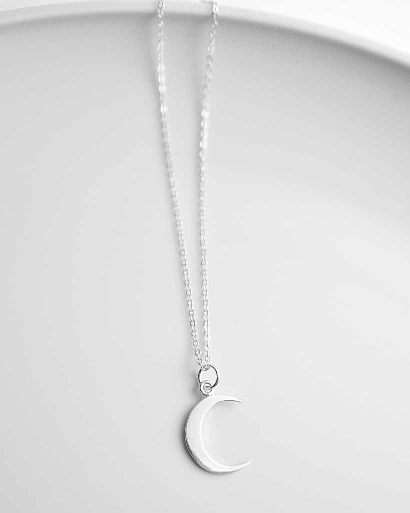 Mother's Crescent Moon Necklace