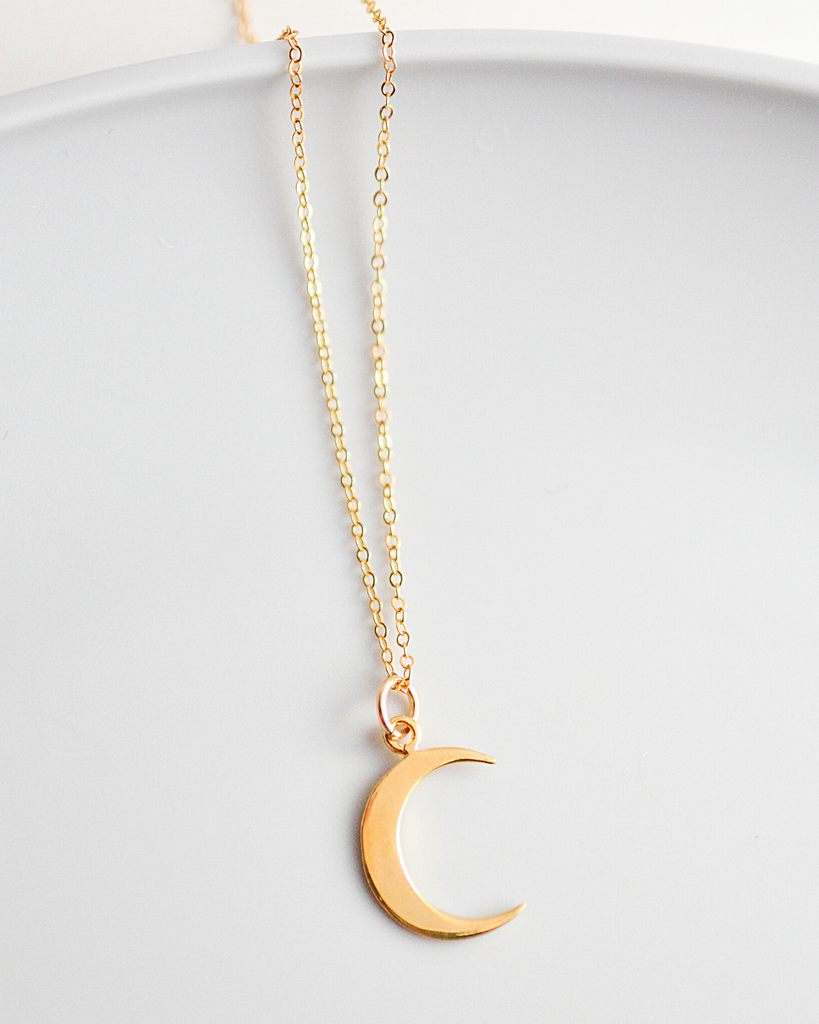Graduate Crescent Moon Necklace