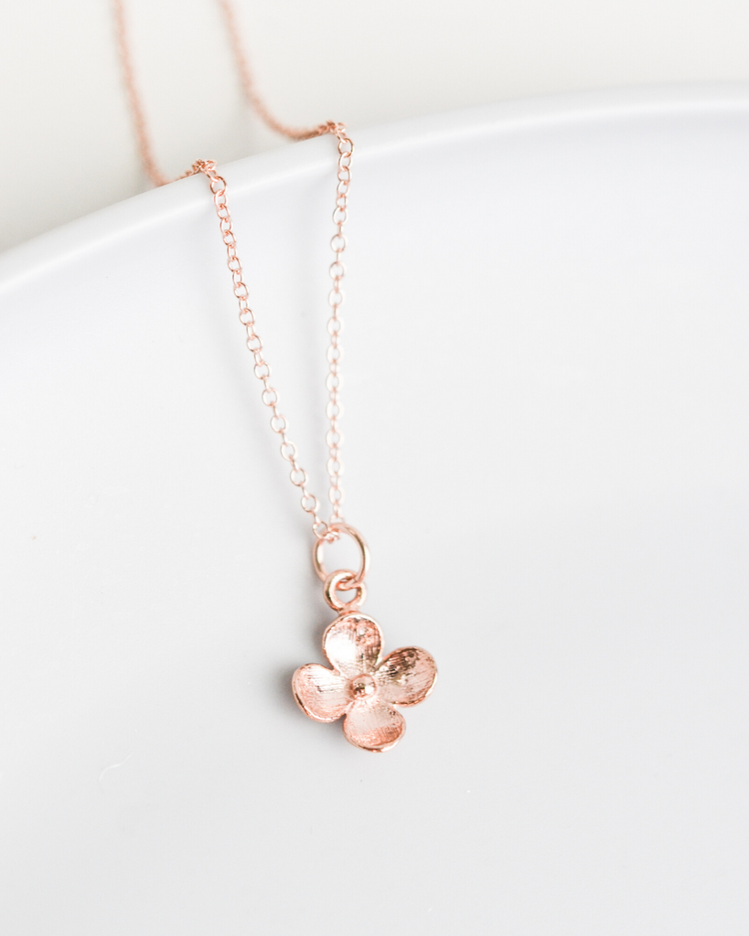 Gold, Sterling Silver or Rose Gold Initial Necklace