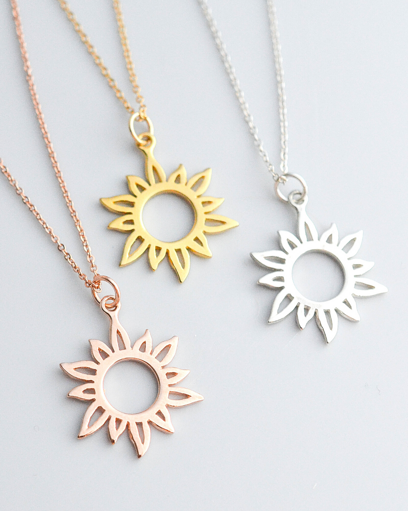 Mother of the Bride Sun Necklace