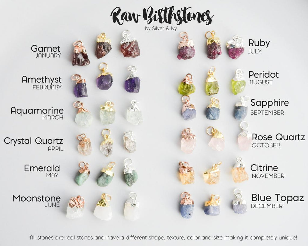 Two Birthstones Cluster Necklace