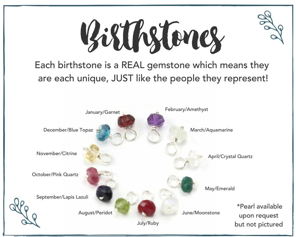 Grandma Large Infinity Birthstone Necklace