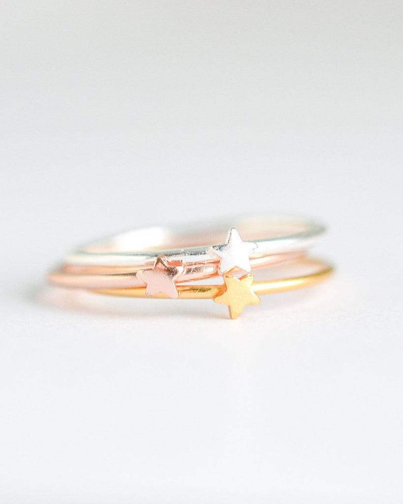 Tiny Stars Stacking Rings