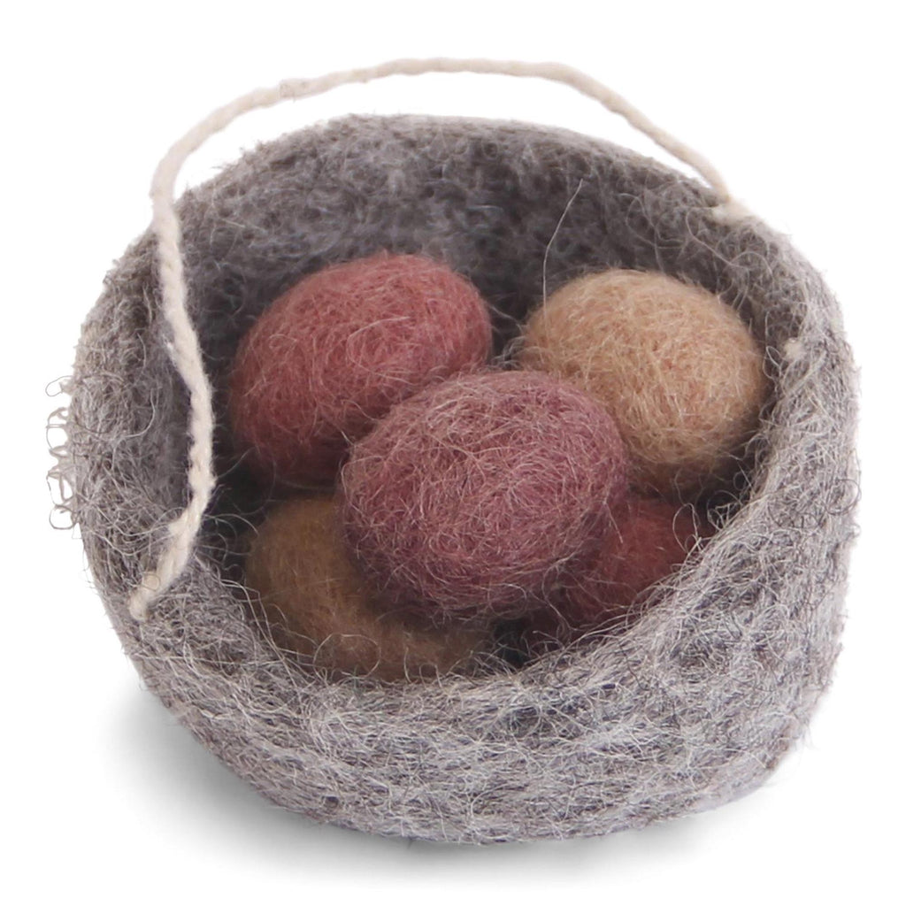 Felted Nest with Eggs