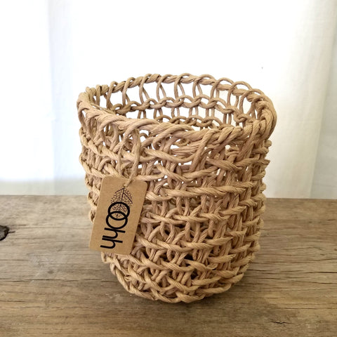 Woven Paper Basket Curve by Lübech Living