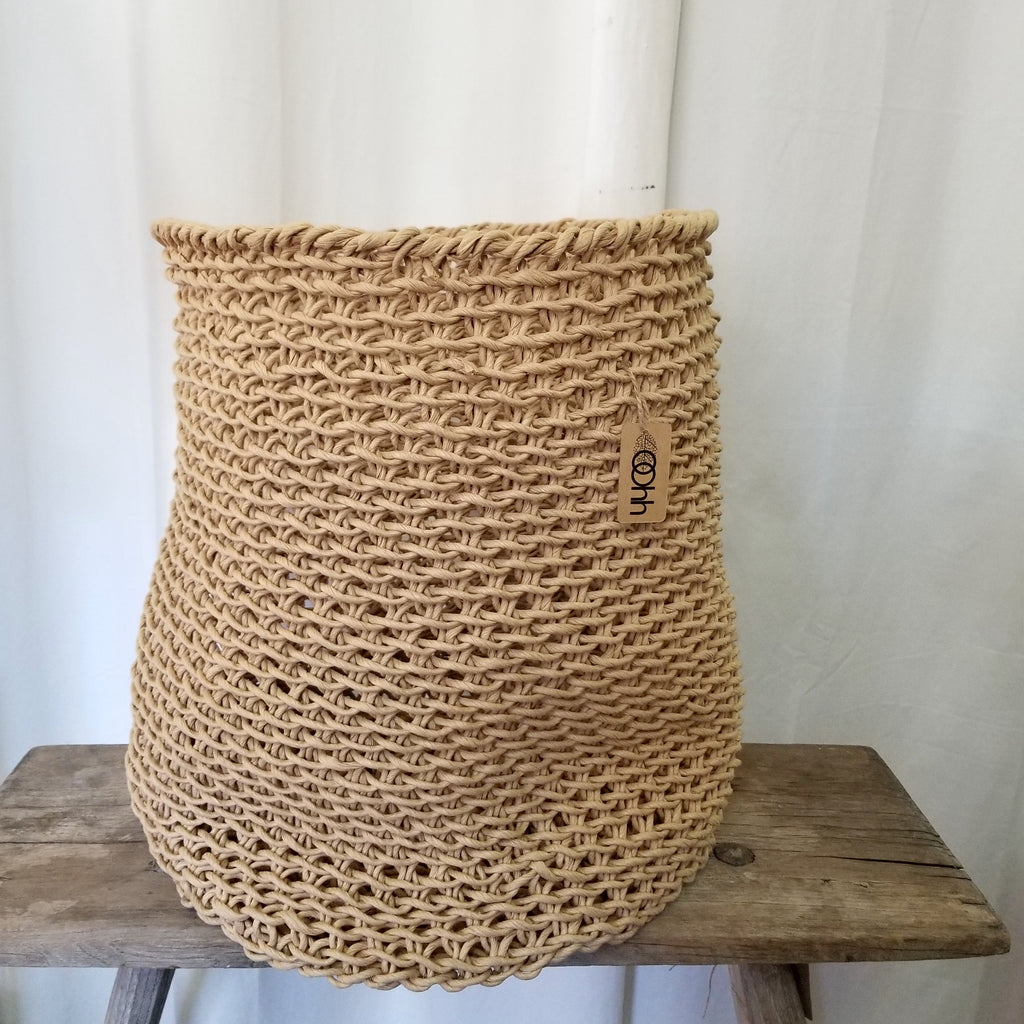 Woven Paper Laundry Basket Curve by Lübech Living