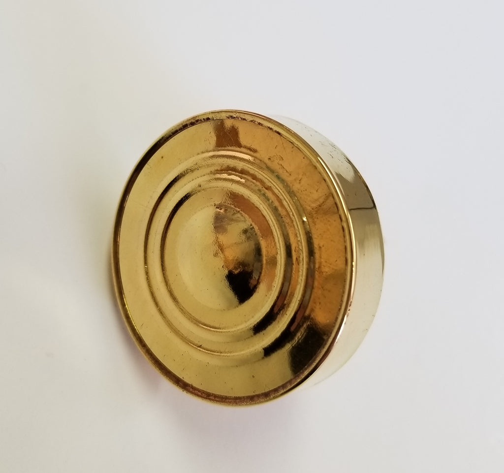 Wood and Gold Knob