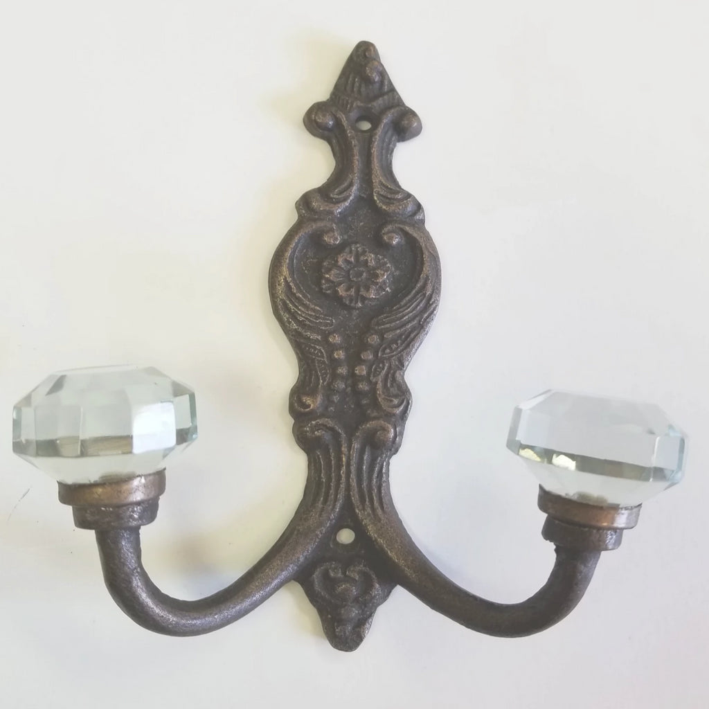 Glass Tipped Cast Iron Double Hook