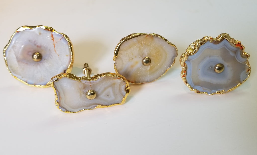 Gold-Dipped Agate Knob