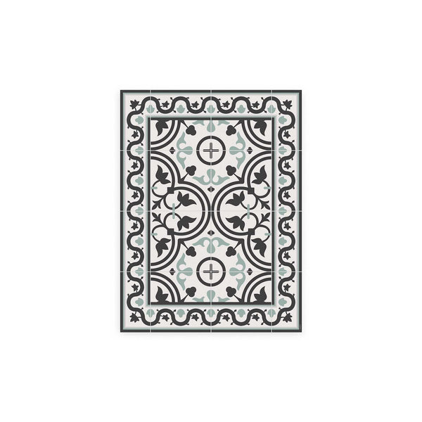 Madrid Pattern Vinyl Floor Mat by MAMUT Big Design