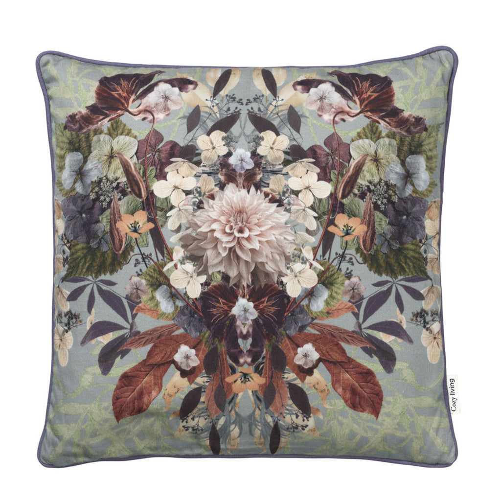 Clara Printed Cushion-Seagrass