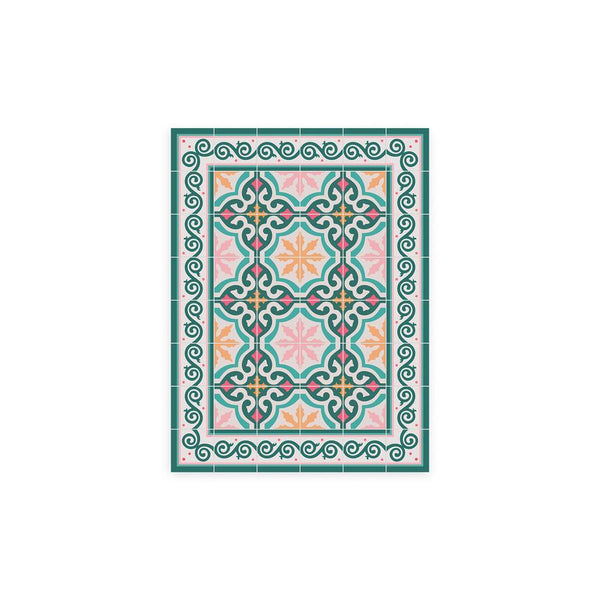 Coral Pattern Vinyl Floor Mat by MAMUT Big Design