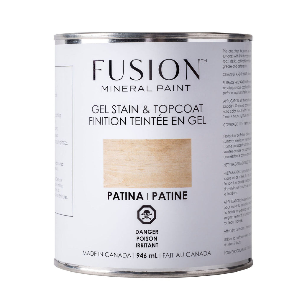 Fusion Gel Stain & Topcoat - 946 mL - 4 colours