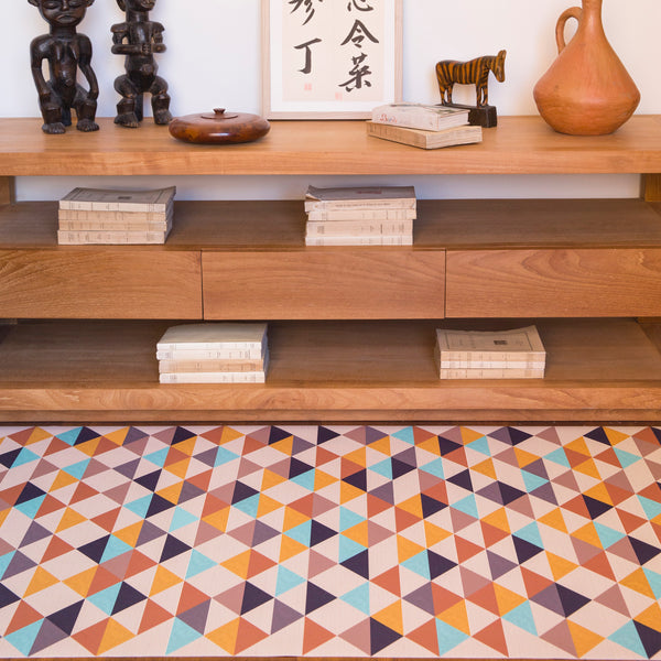 Kilim Karasi Pattern Vinyl Floor Mat by MAMUT Big Design